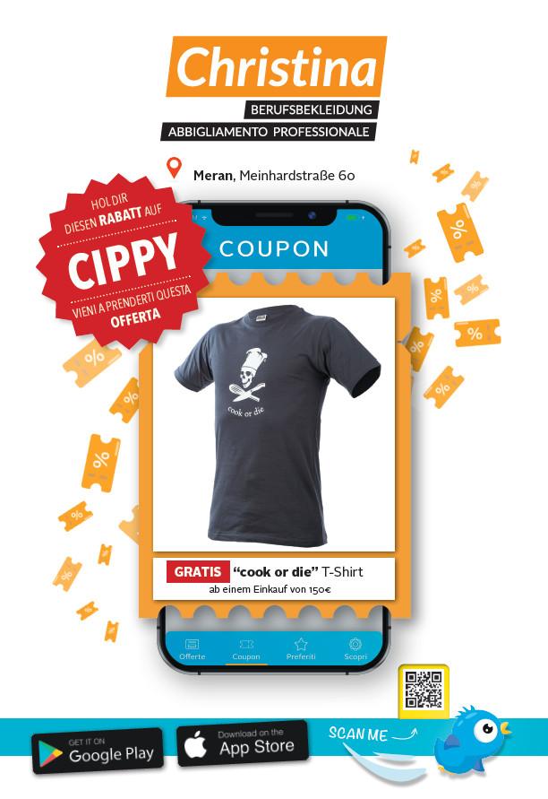 Angebot Erhalte ein gratis T-Shirt ab einem Einkauf von 150€ bei Christina Berufsbekleidung
